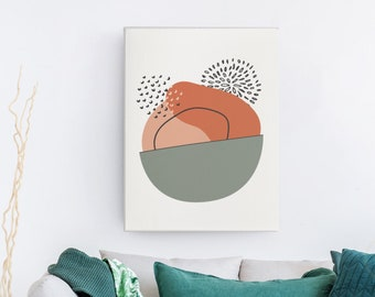 Abstract Boho Wall Art Print | Abstract Shape Art, Modern Art, Boho Decor, Printable Wall Art, Affordable Wall Art, Geometric Art, Digital