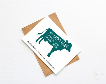 We've Moo-ved Moving Announcement Postcard Printable | Moving Postcard, Moving Card, Address Announcement, New Address, New Home, Digital