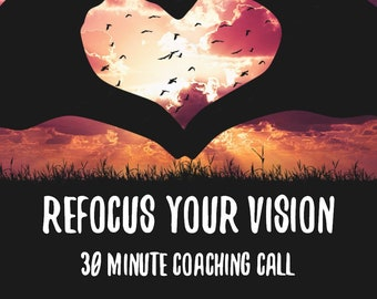 Business Mindset Coaching - 30 Minute Mentor Chat - Refocus Your Vision Coaching