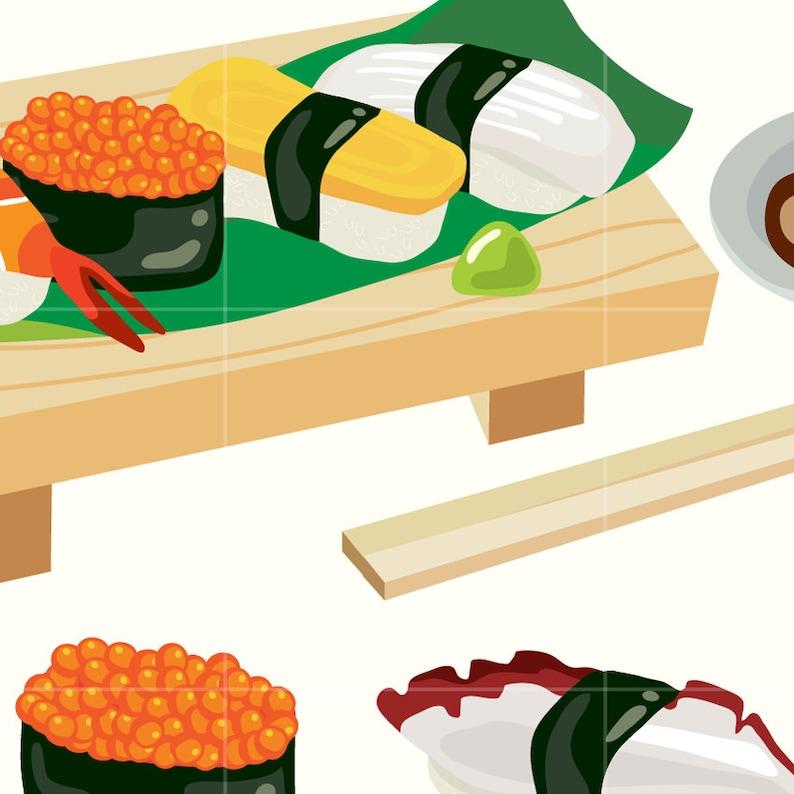 Japanese Sushi Digital Vector Clip art/ Japan Food Digital ... (794 x 794 Pixel)