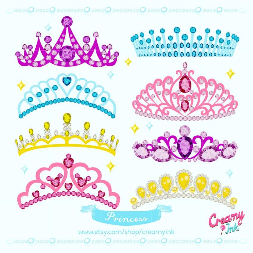 Princess Crown Digital Vector Clip art/ Tiara Clipart Design ...