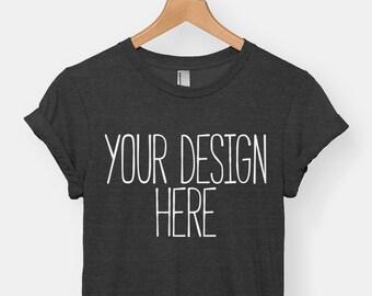 757e6f45b Custom t-shirt, personalized tee, bespoke t-shirt, men's tshirt, women's  tshirt, American Apparel