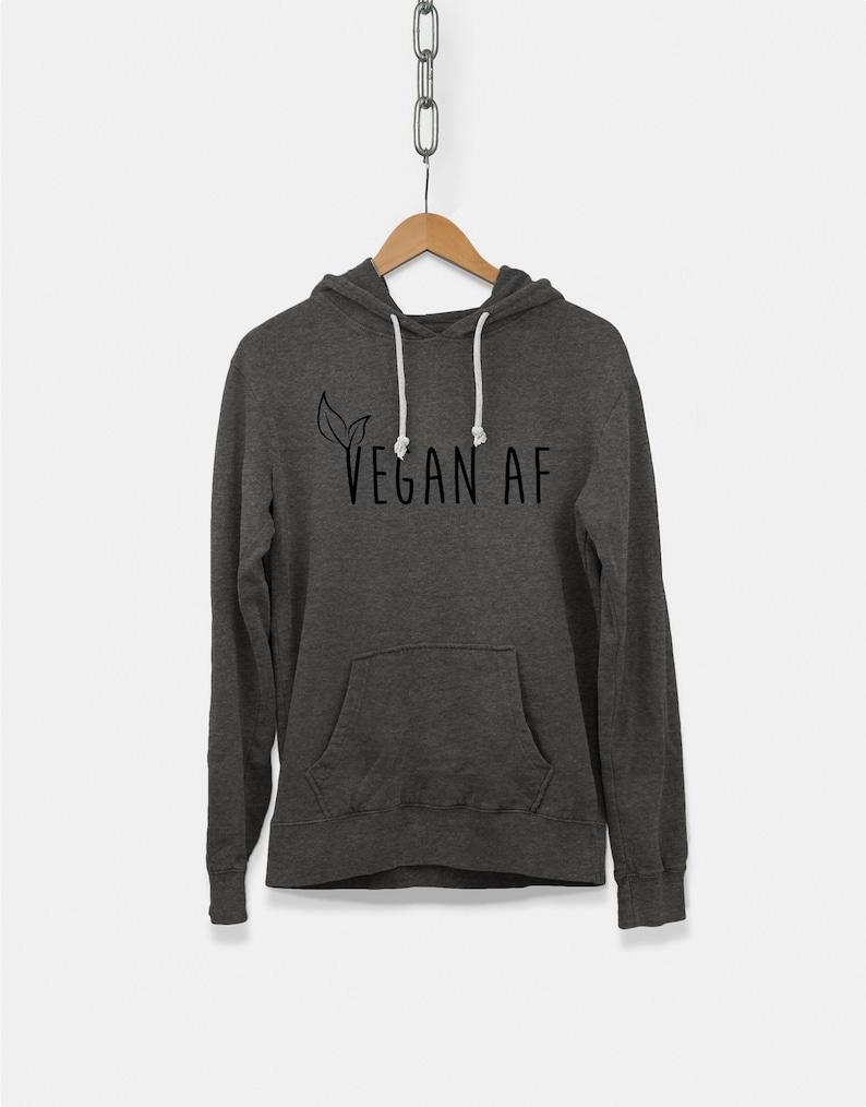 8b5ada7cd591ca Vegane AF Hoodie Kapuze lustige Sweatshirt für Veganer und