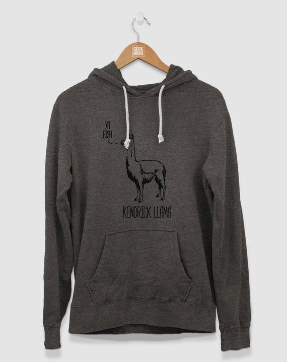 Kendrick Llama Hoodie, Funny Hooded Sweatshirt For Hip Hop Fans, Men's Hoodie, Women's Hoodie by Etsy