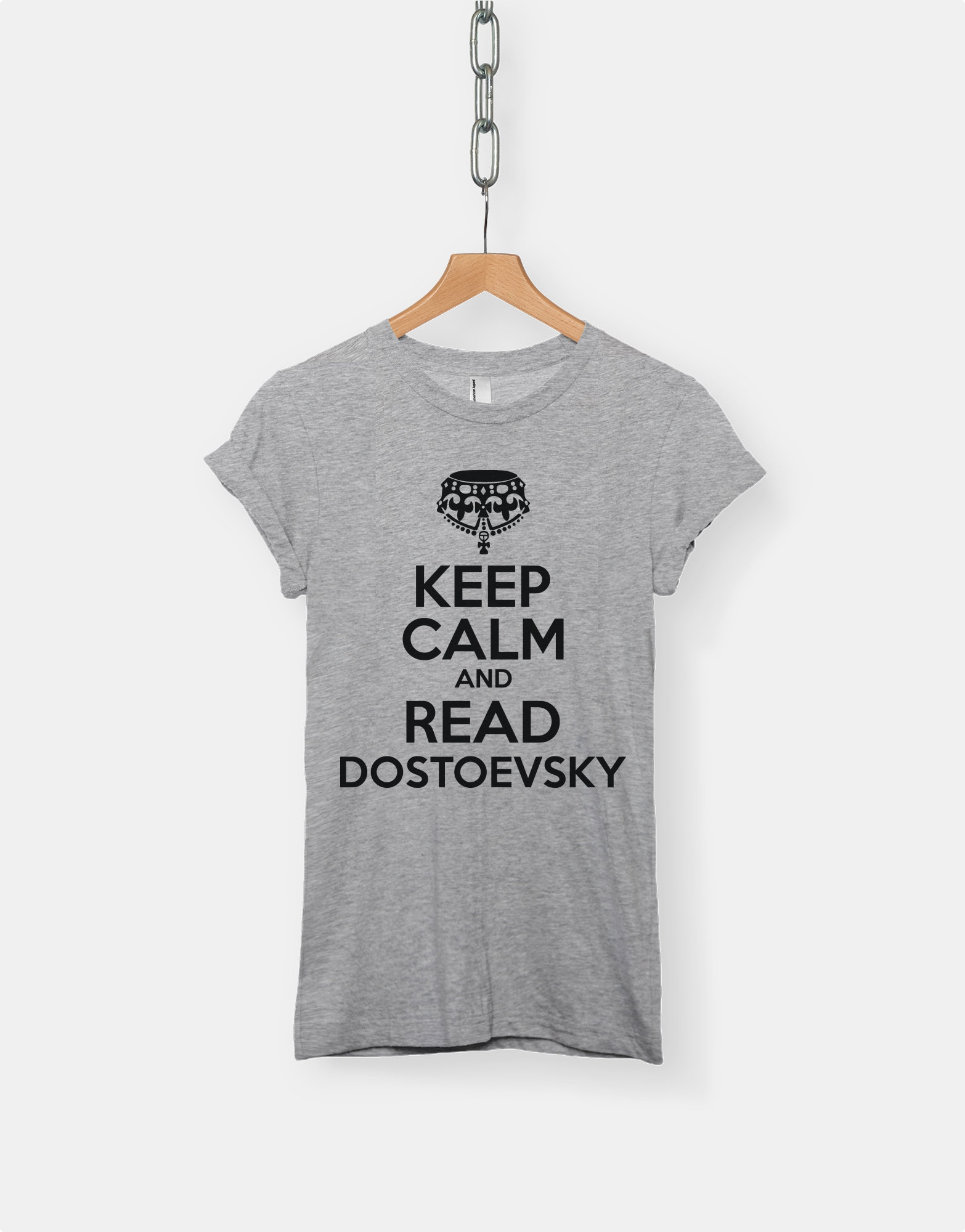 2a2d4065a Keep Calm And Read Dostoevsky t-shirt tee // literary t-shirts | Etsy