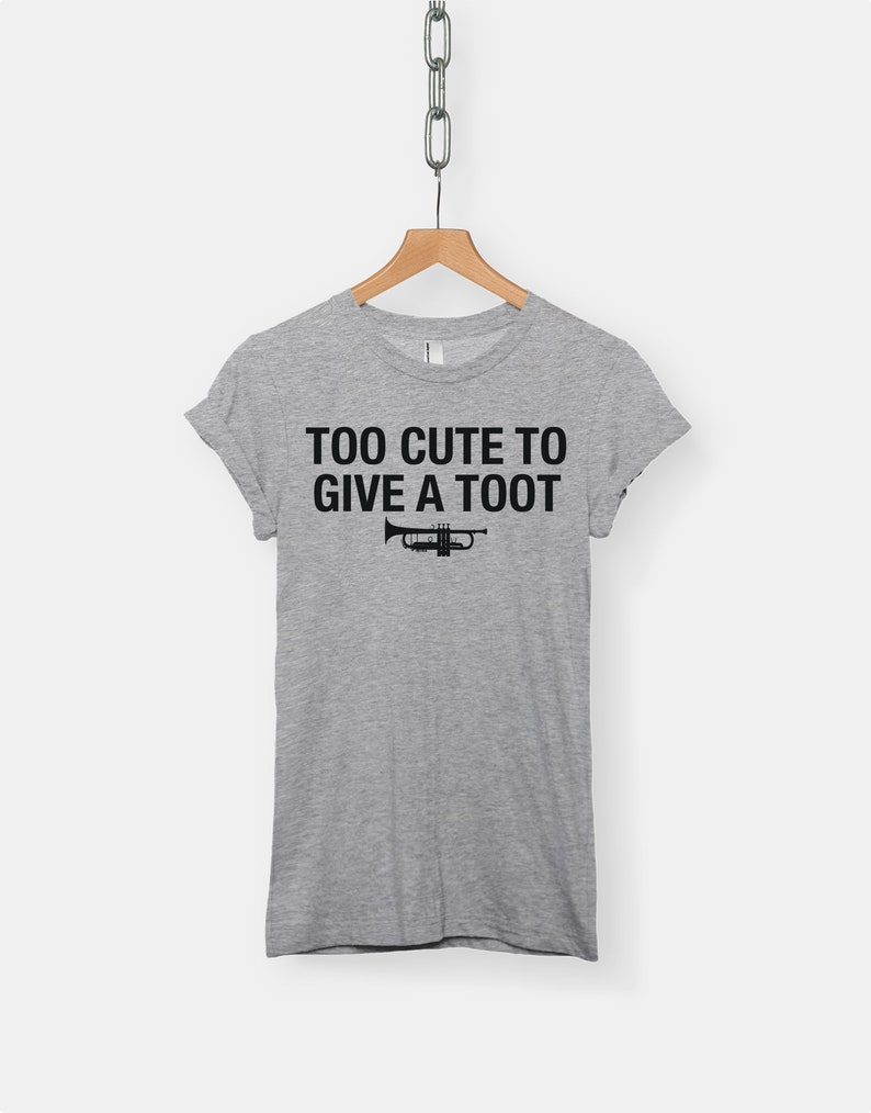 aa7d5f98 Too Cute To Give A Toot t-shirt tee // music t-shirts / band   Etsy