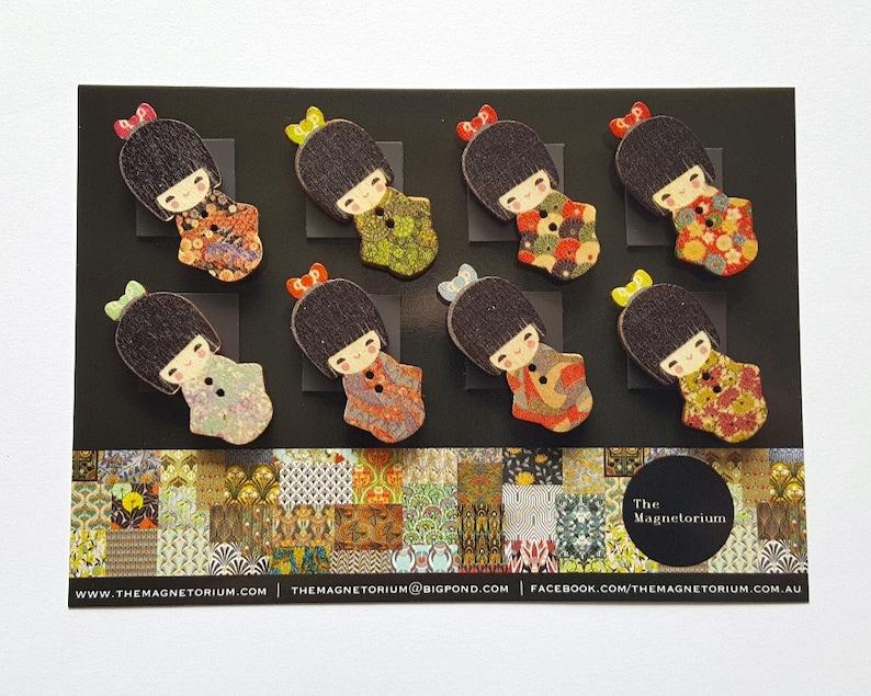 Dolls Doll Magnets Office Decor Magnet Fridge Magnet Travel Gifts Geisha Magnets Asian Decor Refrigerator Magnet Weekly Planner