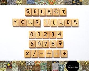 Scrabble Magnets | Scrabble Tiles | Fridge Magnets | Alphabet Magnets | Letter Magnets | BOLD PRINT | Novelty Magnets | Strong Magnets