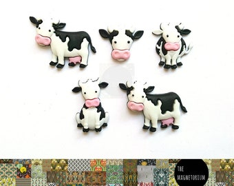 Cow Magnets, Fridge Magnet, Magnet, Kitchen Magnet, Refrigerator Magnet, Teacher Planner, Office Decor, To Do List, Weekly Planner, Gift