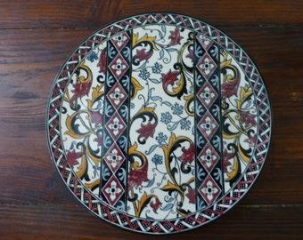 Plate ceramic/Gien France/Assiette en céramique / Français /Vintage