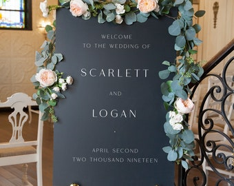Personalized Welcome Wedding Sign Custom Welcome Wedding Sign Reception Welcome Sign SC Elegant Wedding Welcome Sign Large Ceremony Sign