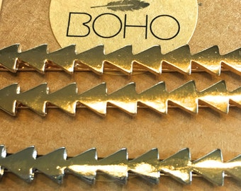 Gold or Silver Triangle Hairpin Set, triangle hair barrets, boho hairstyle, boho wedding hair, geometric hair accessories