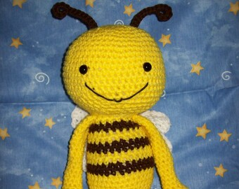 Bumble  Bee Stuffed animal  around 18-19 in. choice of yellow/Brown or Yellow/Black