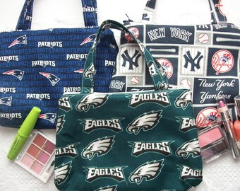 """Makeup bags,Cosmetic bag,Small travel bag.In 3 prints to choose from,about 8.5"""" wide,7""""long.With waterproof liner"""