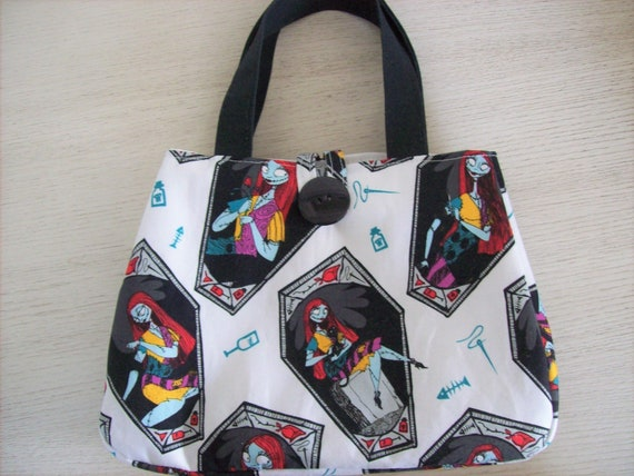 "Girl/'s purse,in Sally Nightmare before Christmas print,7.5/"" x 5.5/"" x 2.5/"""