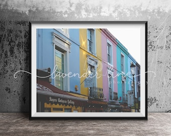 COLOURS OF PORTOBELLO, Colour Photography Print, London, Street Photography, Cityscape, Wanderlust, Home Decor, Wall Art