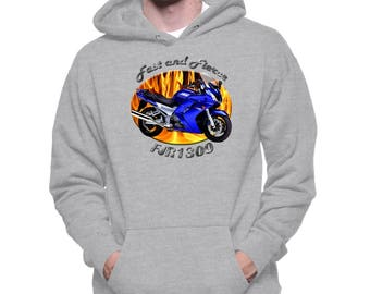 Awesome FZ6 Fazer Rider  Hoodie  Funny Biker Ideal Personalised biker Gift