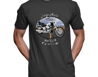 35dbf62d3 Harley Davidson Softail Custom Easy Rider Men's Dark T-Shirt