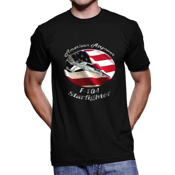 F-104 Starfighter American Airpower Men`s Dark T-Shirt