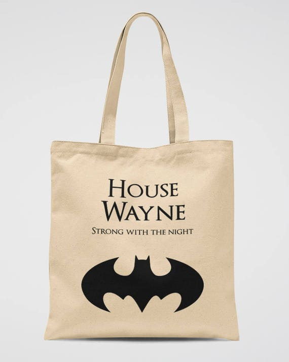 Batman Party Tote Bag Bruce Wayne Canvas Birthday