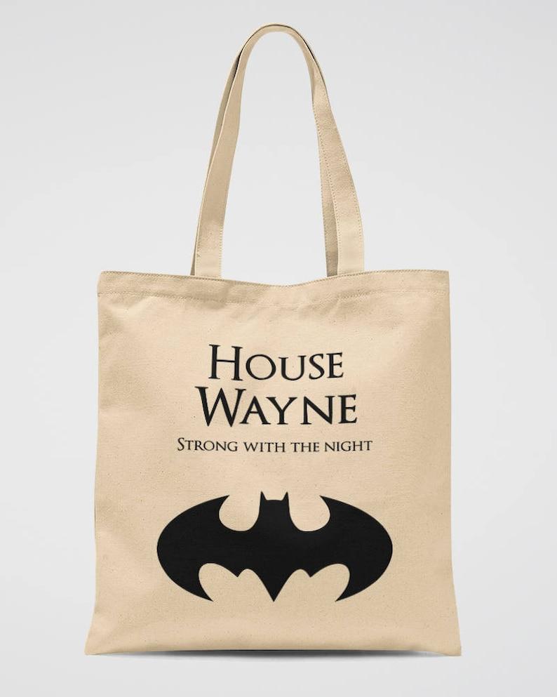 Batman Party Tote Bag Bruce Wayne Canvas