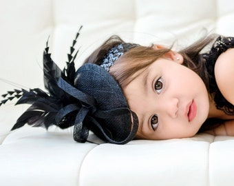Black baby toddler Fascinator e5380530182