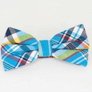 multi color Red /& Brown plaid  Neck Tie derby tie Church Tie mens tie Navy kerchief kentucky derby tie Multi Color Blue White