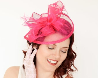 5e7afd07491b9 Hot Pink Fuchsia Fascinator