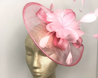 The Kenni Bubble Gum Pink Fascinator Women s Tea Party  59736f99953