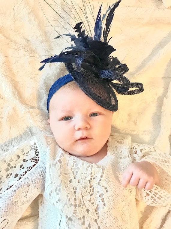 Baby infant Fascinator Baby Little Girl s Fascinator Tea  dc777d4daa7