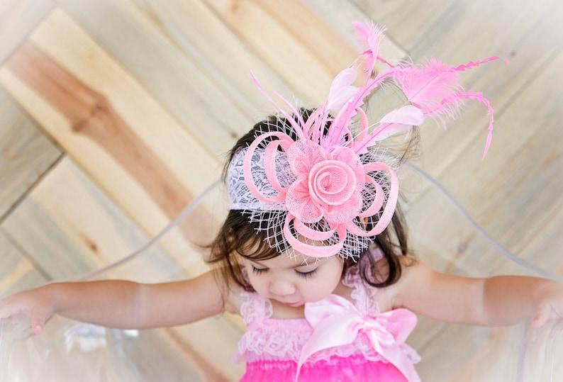 6bf29cef6 baby/toddler Fascinator, Tea Party Hat, Church Hat, Derby Hat, Fancy Hat,  British Hat, Wedding Hat, Fascinator, womens