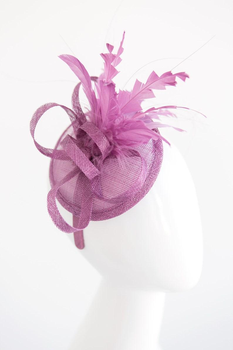 bb90177aba5c00 The Haleigh Lavender Purple Fascinator Women's Tea Party | Etsy