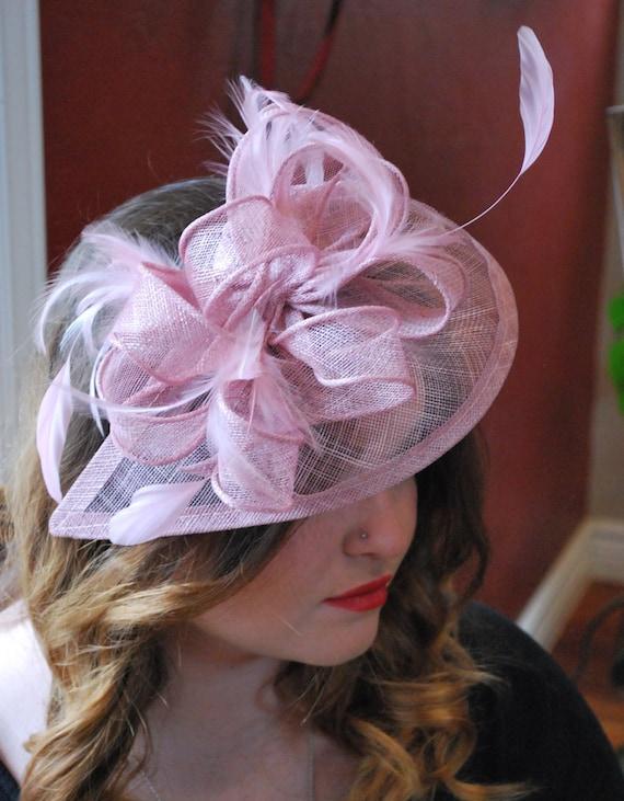 Heather Pink Fascinator British Hat Womens Tea Party