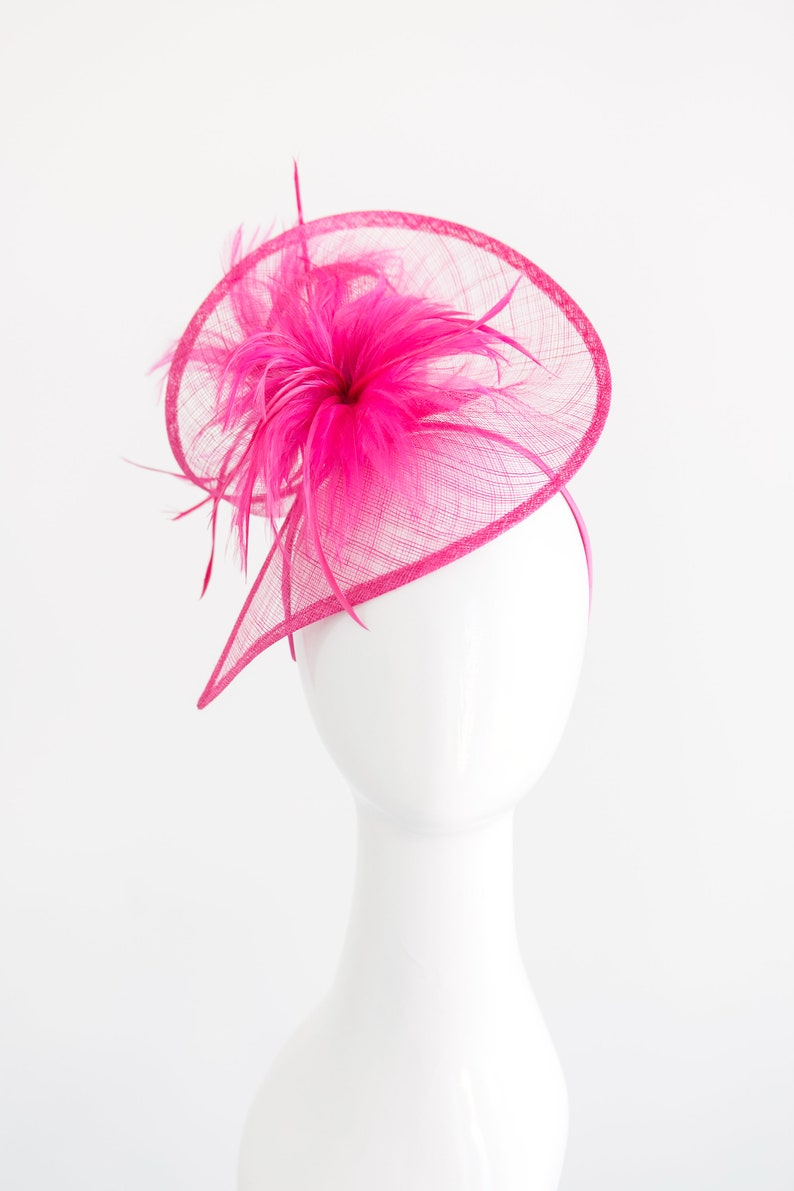 a729e6b6d Fuschia Fascinator, Womens Tea Party Hat, Church Hat, Derby Hat, Fancy Hat,  Bachelorette Hat, Tea Party Hat, wedding hat
