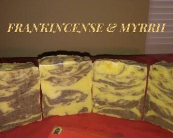 Frankincense & Myrrh Bar Soap(scratch)