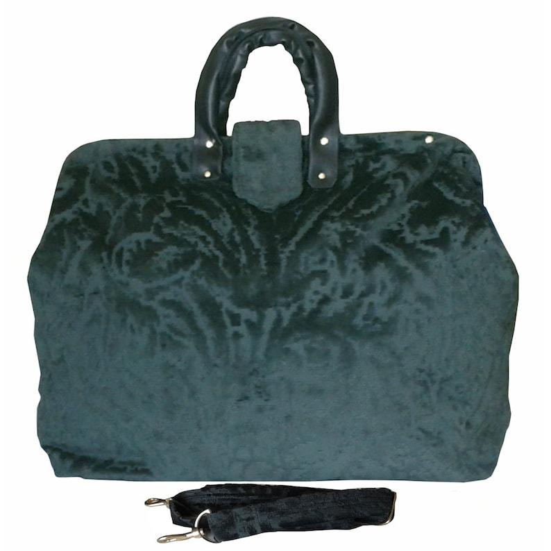 1425383028dd Tapestry Carpet Bag. Dark Forest Green on Raised Chenille. Deta... SALE!!!  40% OFF. Tapestry Carpet Bag. Dark Forest Green on Raised Chenille.