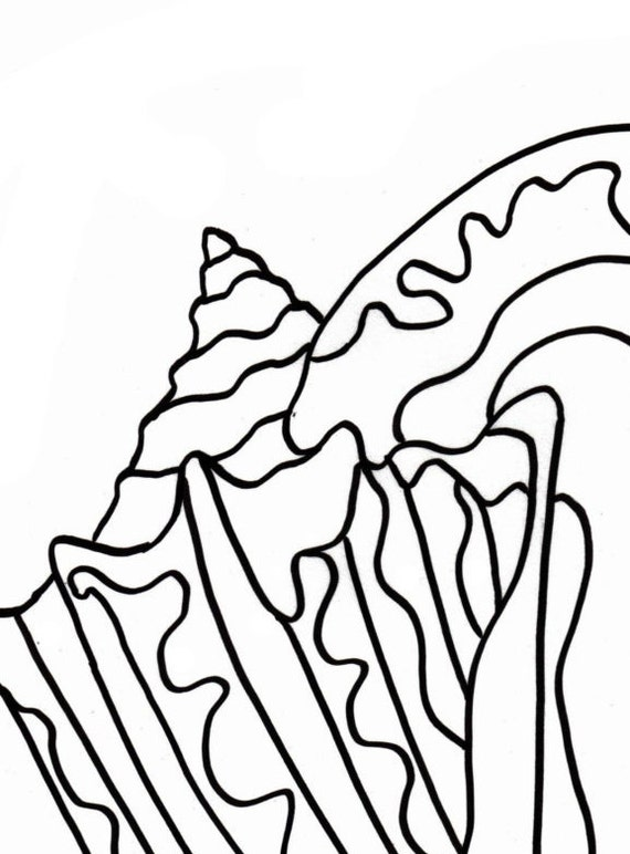 Sea Shells Coloring Page Printable | Free coloring pages, Sea ... | 772x570