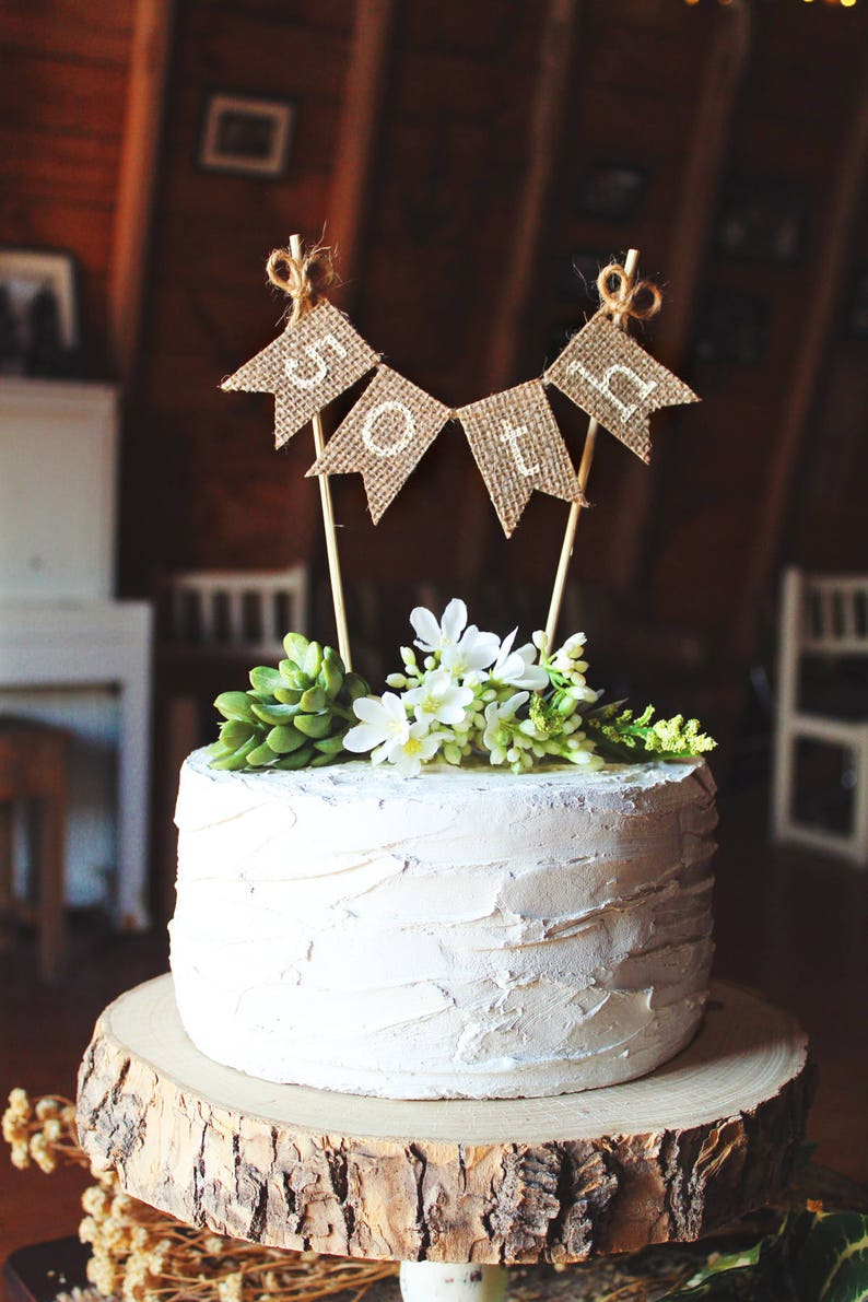50th Birthday Cake Topper Party
