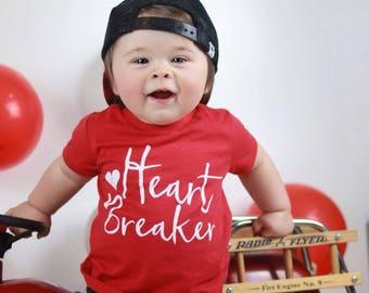heartbreaker tee, trendy boy clothes, little heart breaker, stylish boy clothes, boys graphic tee, toddler boy shirt, baby boy clothes