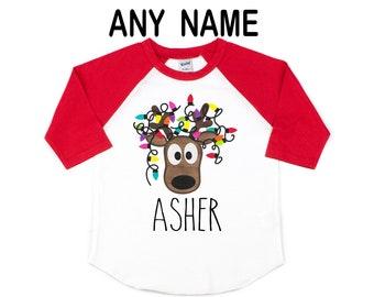 long sleeve Winter clothes Christmas Kids Funny shirt Gift EX 099 Personalized toddler Custom Name Shirt Dear Santa Christmas shirt