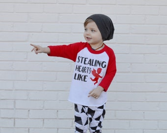 e0bab485cf0 Baby boy valentines day shirt stealing hearts like cupid