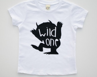 Where The Wild Things Are Themed Birthday Shirt For Boys Or Girls One Toddlers