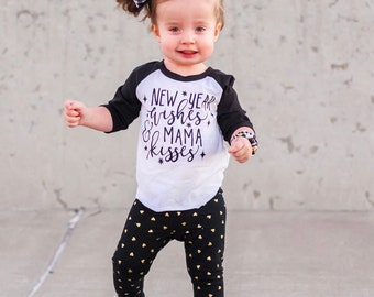 mama kisses kids new year shirt new year shirt midnight celebration new year wishes and mama kisses first new years our5loves