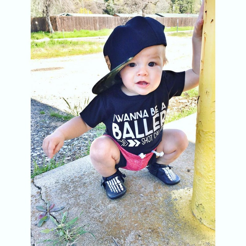 f9a29379e470 Trendy boy clothes hipster baby clothes wanna be a baller | Etsy