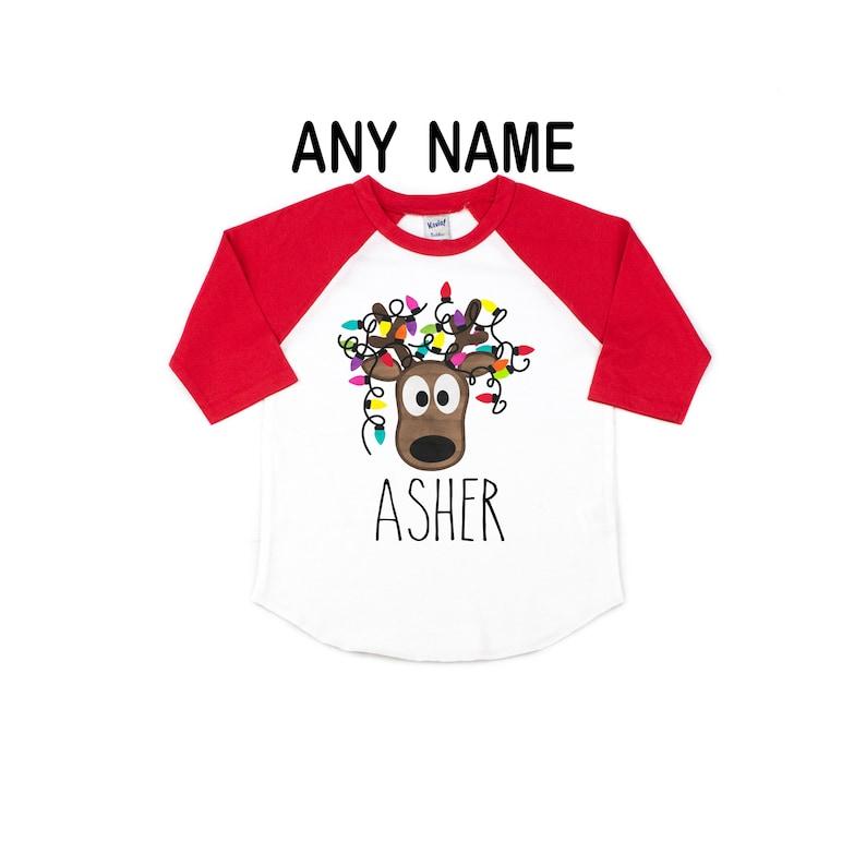 personalized kids christmas shirt boy christmas shirt toddler christmas shirt reindeer shirts baby girl christmas outfit