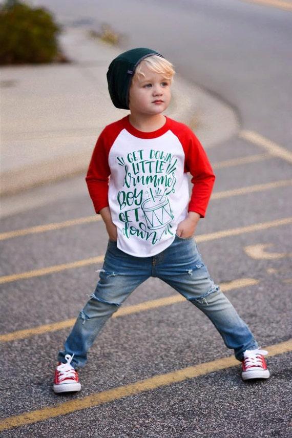 image 0 - Boy Christmas Raglan Baby Boy Christmas Outfit Toddler Boy Etsy