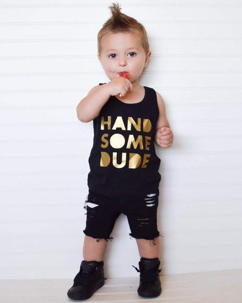 b0d36d107999 Handsome dude tee trendy boys tank top stylish boy clothes