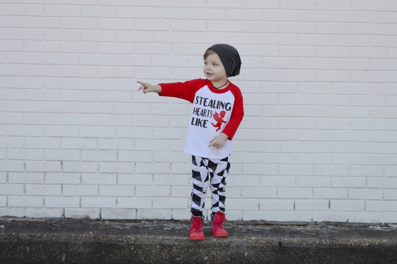 f2d8bf8b5ce Boy valentines day outfit valentines day baseball tee