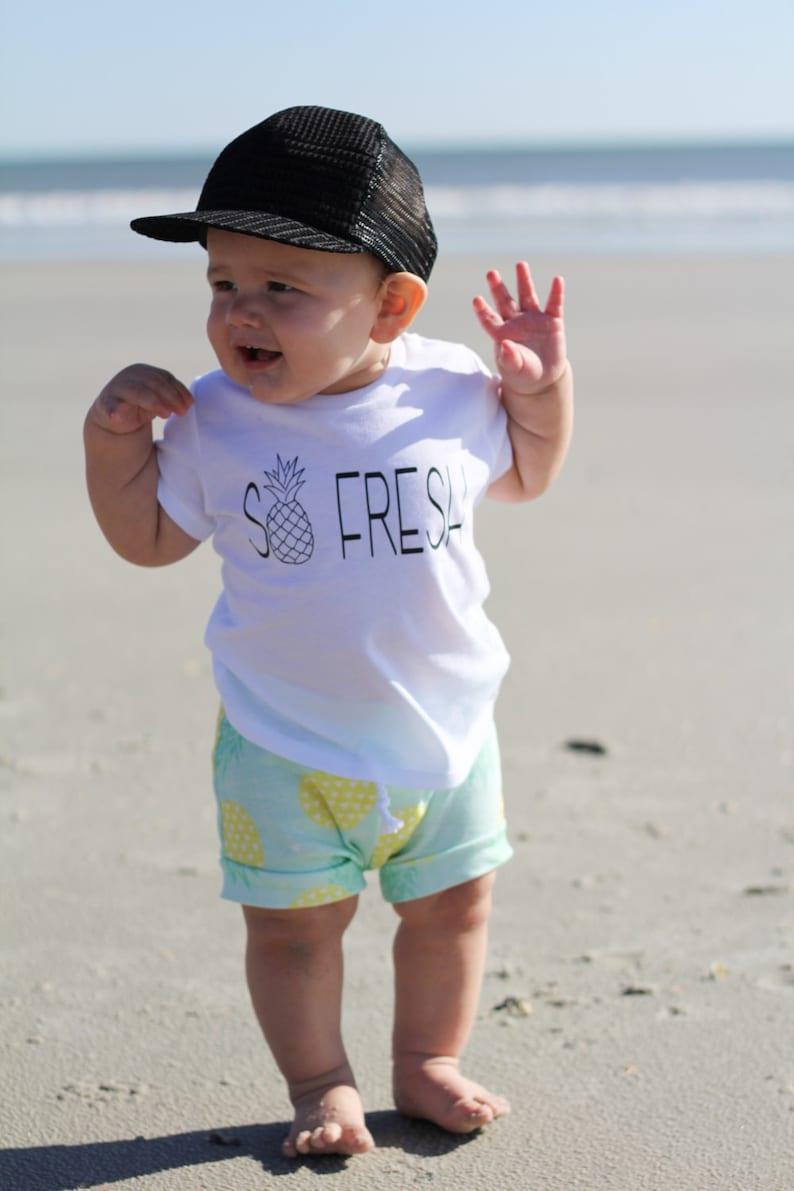 2f1028e2a89e So fresh pineapple shirt unisex baby clothes trendy kids