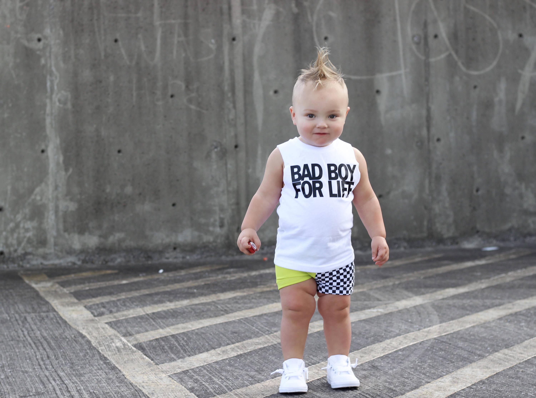 cc462a11f Street style kids clothes bad boy shirt monochrome kids